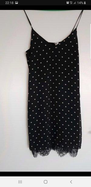 H&M Vestido de encaje blanco-negro