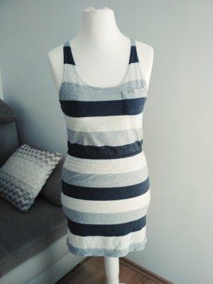 H & M Sommerkleid grau gestreift Größe 34