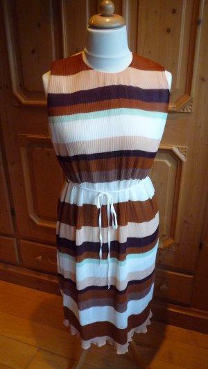 H&M Sommerkleid Kofferkleid Gr. 44 Querstreifen mehrfarbig