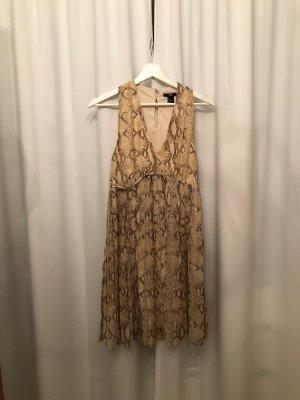 H&M Sommerkleid mit Schlangenprint und Plisseerock