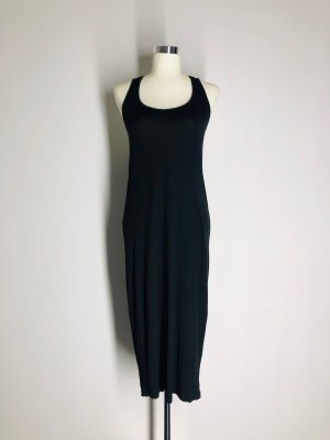 H&M Midi Dress black viscose