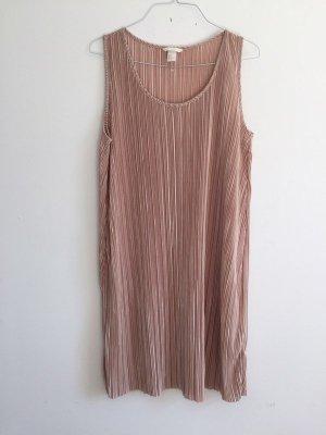 H&M sommerliches Plissiertes Kleid Tunika leicht transparent