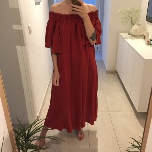 H&M Off-The-Shoulder Dress russet