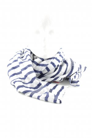 H&M Summer Scarf blue-white allover print business style