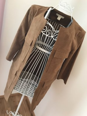 H&M Conscious Exclusive Leather Coat brown