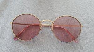 H&M Sonnenbrille Rosa Gold Retro