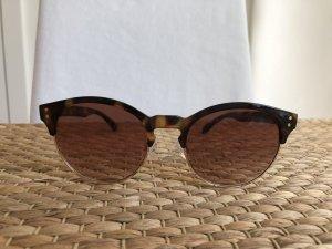 H&M Sonnenbrille Wayfarer braun Gold neu!