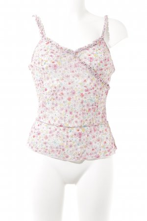 H&M Spaghetti Strap Top flower pattern casual look