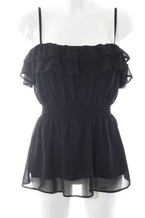 H&M Top con bretelline nero elegante