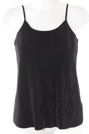 H&M Spaghetti Strap Top black striped pattern casual look