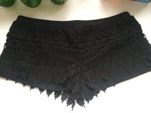 H&M Spitzen Shorts 38 M neu schwarz Spitze Lace Hot Pants Sommer