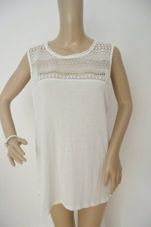 H&M Crochet Shirt white