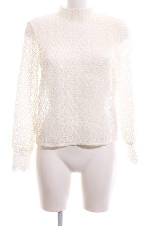 H&M Lace Blouse natural white elegant