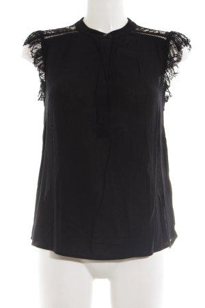 H&M Spitzenbluse schwarz extravaganter Stil