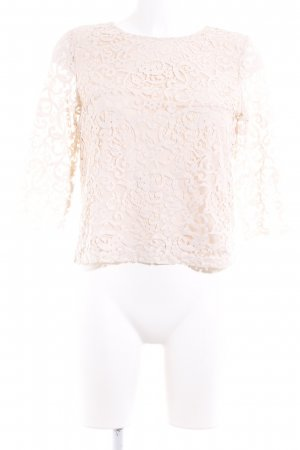 H&M Spitzenbluse creme florales Muster Casual-Look