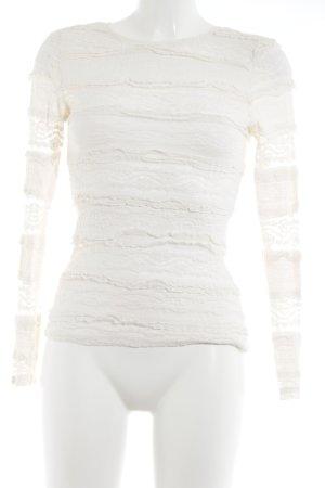 H&M Spitzenbluse creme Romantik-Look