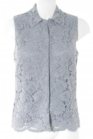 H&M Spitzenbluse himmelblau Casual-Look