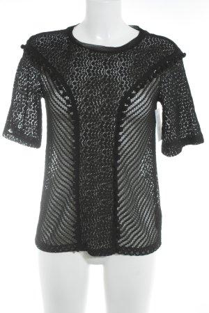 H&M Kanten blouse zwart casual uitstraling
