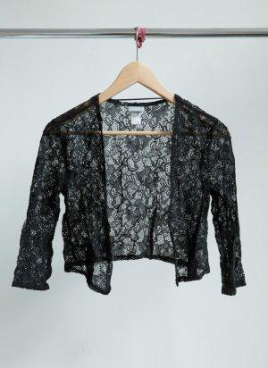 H&M Spitzenbolero - schwarz