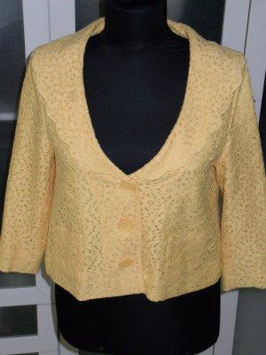 H&M Spitzenjacke/Blazer in kräftigem gelb