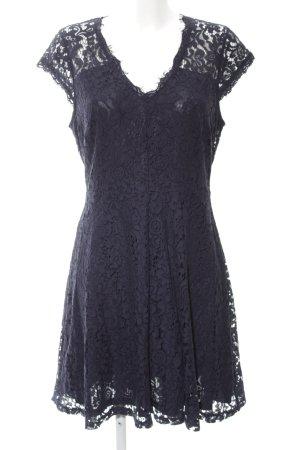 H&M Abito in pizzo nero-blu stampa integrale stile casual