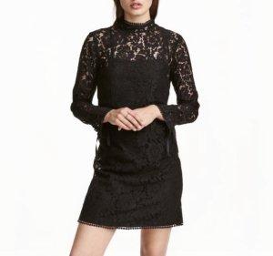 H&M Vestido de encaje negro