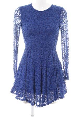 H&M Lace Dress blue flower pattern elegant