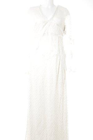 H&M Spitzenkleid creme Romantik-Look