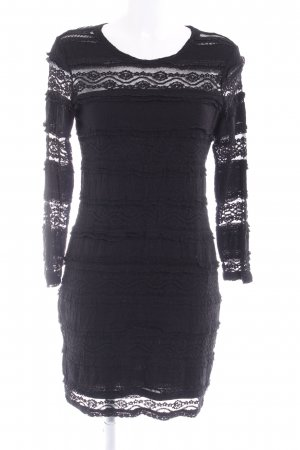 H&M Spitzenkleid schwarz Elegant