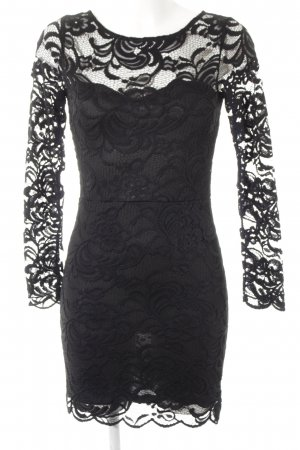 H&M Lace Dress black floral pattern lace look