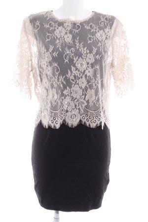 H&M Robe en dentelle noir-rosé style romantique