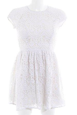 H&M Robe en dentelle blanc cassé style simple