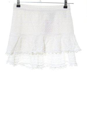 H&M Kanten rok wit casual uitstraling