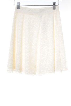 H&M Jupe en dentelle crème élégant