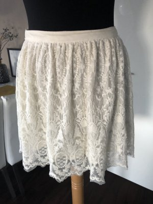 H&M Lace Skirt cream-natural white