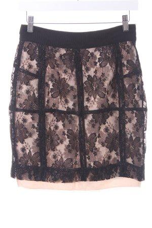 H&M Lace Skirt cream-black glittery