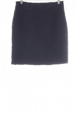 H&M Lace Skirt dark blue embellished pattern casual look