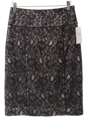 H&M Spitzenrock schwarz-hellgrau Elegant