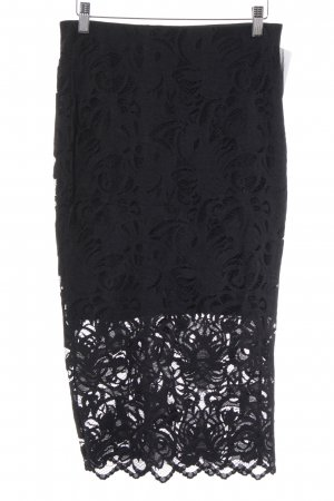 H&M Lace Skirt black party style