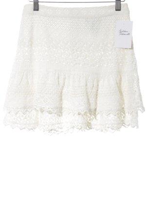 H&M Jupe en dentelle blanc cassé style festif