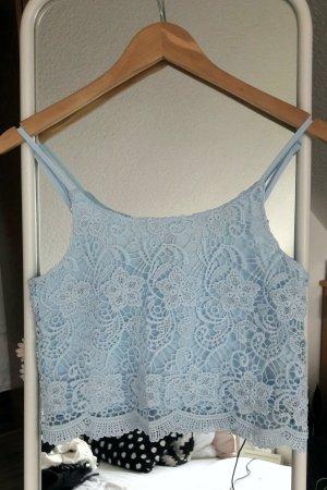 H&M Divided Top de encaje azul claro-azul bebé