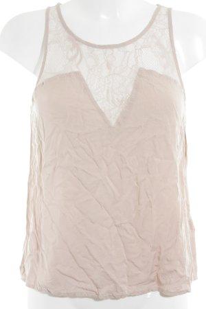 H&M Spitzentop altrosa Romantik-Look