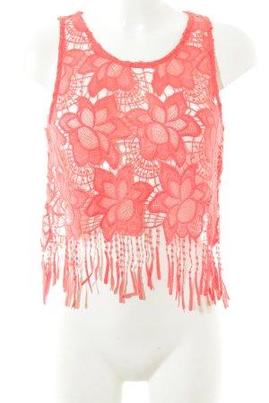 H&M Top di merletto arancione scuro motivo floreale stile Gypsy