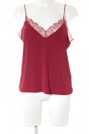 H&M Lace Top dark red college style