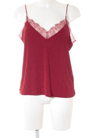 H&M Top di merletto rosso scuro stile universitario