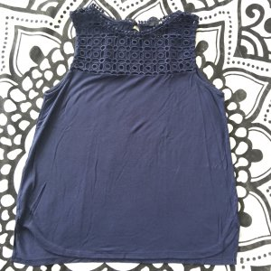H&M Lace Top dark blue