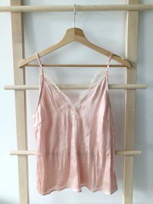 H&M Top de encaje rosa empolvado-rosa
