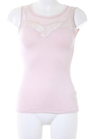 H&M Top de encaje rosa Apariencia de encaje