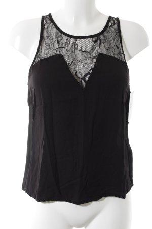H&M Top de encaje negro Apariencia de encaje