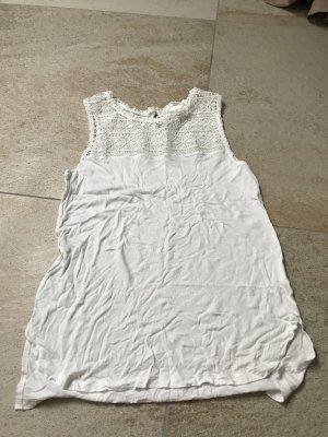H&M Spitzentop Weiß Größe S